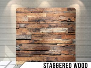 Staggered-wood